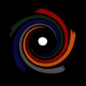Logo von free-flow-shiatsu mit schwarzem Kreis als Hintergrund